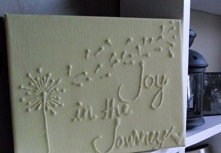 DIY canvas project! All you need is some glue and paint.