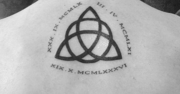 Tatouage symbole celte de la famille et chiffres romains - Tatouage representant la famille ...