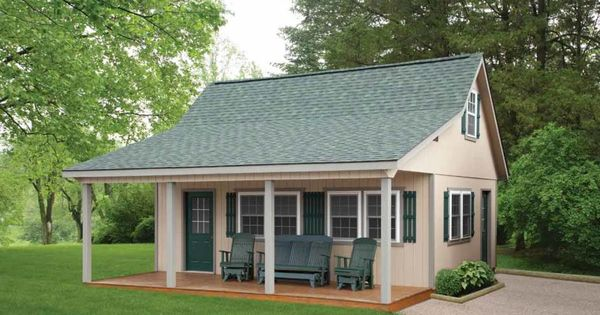 This Looks Cool Hunter Green Roof Beige Paint White Trim Fun Color Or Wood Grain Front