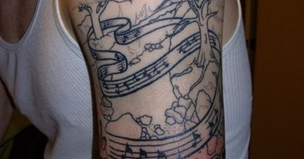 musical tattoos | Design Moderne – Music Themed Tattoos Collection