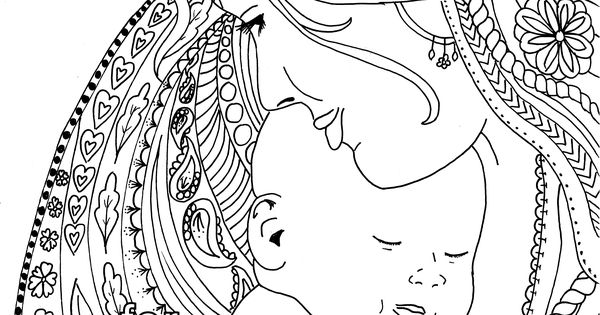 Birth Affirmation Coloring Page