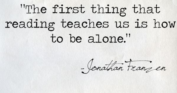 Life lesson from Jonathan Franzen