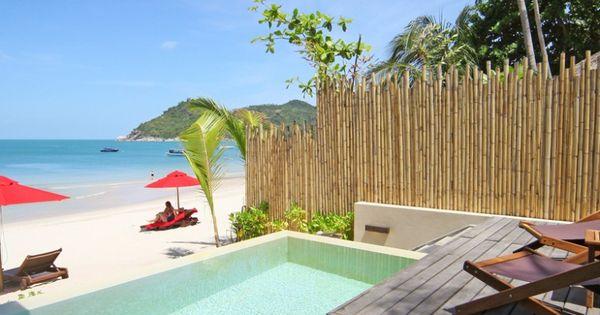 Anantara Rasananda Resort: The hotel is on the sunrise side of Koh