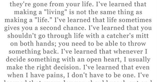 Maya Angelou - life lessons