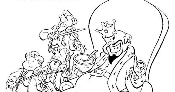 Old King Cole Coloring Page Old King Cole coloring page Education Pinterest