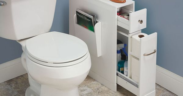 With a narrow footprint but large capacity this is the cabinet that adds organization and - Small toilets for tight spaces concept ...