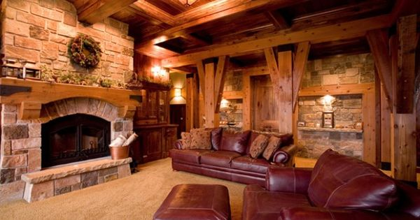 Rathskeller Retreat Adirondack Or Lodge Style Basement