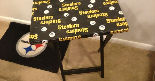 Steelers Man Cave Furniture : Easy tool free nfl duct tape dinner tray makeover