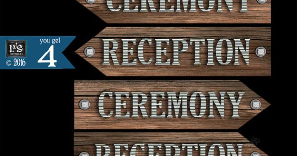 Ceremony-Reception directional arrow signs DIY by ...