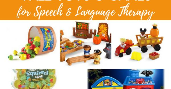 Toys For Language : Fall toys and games for speech language therapy