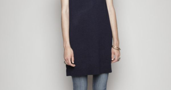 A.P.C. Wool Zip Dress (Navy)