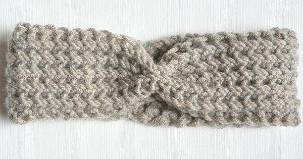 Ribbed Easy Knit Headband Pattern Herringbone Pinterest Yarns, Patterns...