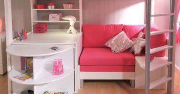 Loft Bed For Girls With Desk