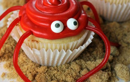 Crawling Crab Summer Cupcake Recipe plus the website has tons of party
