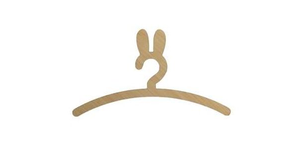 Wooden Bunny Hanger For Kids Made In New Zealand By Love From Seventeen Hanger Bunny Wooden