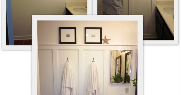 Small bathroom wall panels