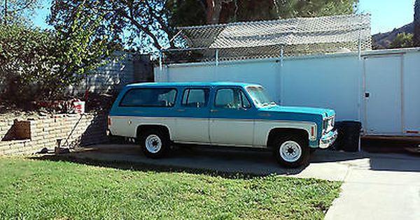 Ebay 1974 Chevrolet Suburban 1974 Chevrolet Suburban C20 454
