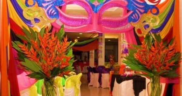 Decoracion de carnaval de venecia para 15 a os buscar for Decoracion para carnaval