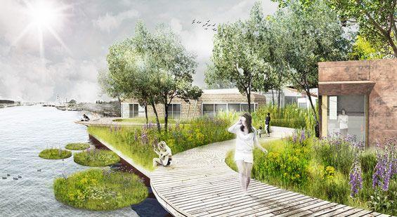 Purifying Park De Ceuvel Amsterdam Netherlands Delva Landscape Architects Landscape Architecture Design Landscape Architecture Drawing Landscape Architect