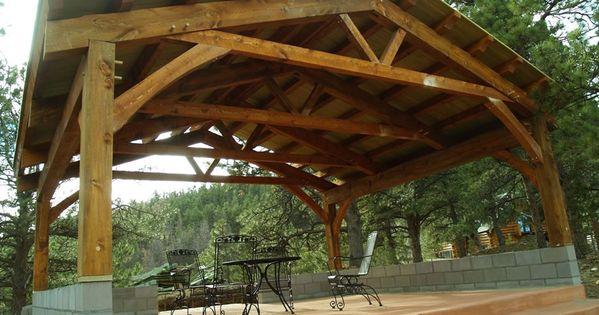 Timber Frame Pavilion Brewster Timber Frame Company Bellvue Colorado Timber Frame Pavilion Timber Frame Timber