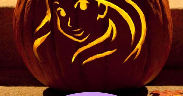 Rapunzel pumpkin carving template pumpkin carving and for Rapunzel pumpkin template