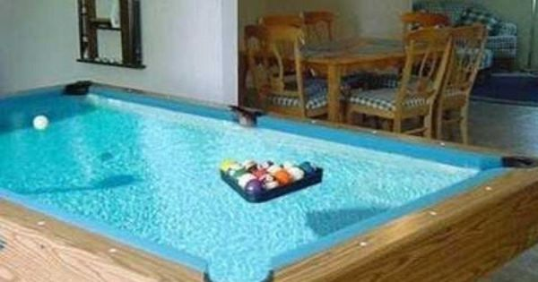 Fish tank pool table wild pinterest pool table and for Koi pond pool table