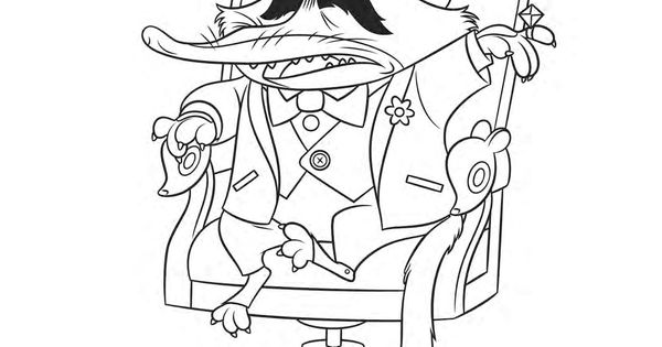 Zootopia mr big click here to download the free for Nanny mcphee coloring pages