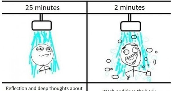 27 minute shower. Story of my life.