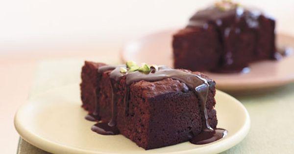 Chocolate-Pistachio Torte with Warm Chocolate Ganache | Recipe | Bada ...