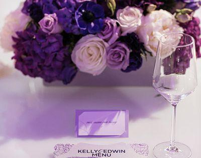 Purple Floral Centerpiece