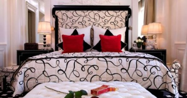 My Current Colors Are Grey Walls Platinum To Be Exact With Black White And Red Accents In The Bedroom I Love This White Bedroom Decor Bedroom Red Red Rooms