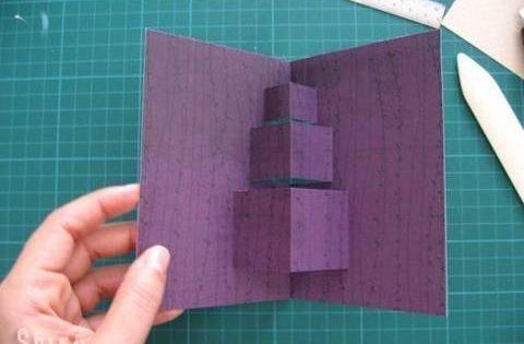 cardmaking photo tutorial: pop-up card ... popular stack of blocks/presents format ...