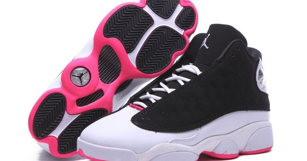 c6d552a8a09 ... where to buy retro air jordan 13 zapatos negro blanco rosado 2015 de  las mujeres jordan