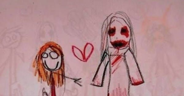 drawing of children what these 20 kids drew will seriously haunt my dreams for 4576