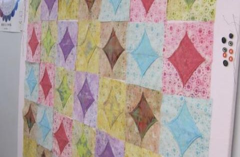 8 Inch Quilt Blocks Free Patterns : 10 minute quilt block, outside 5 inch, center 8 inch ...