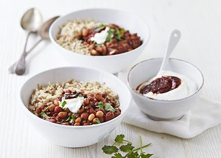 ... chilli bowl with chipotle yogurt | Recipe | Chipotle, Beef and Beans