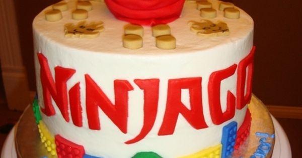 Kyle's 8th Birthday Ideas - Lego Ninjago Kai Birthday Cake By nellie31