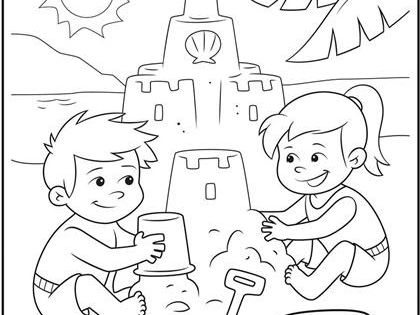 Color your dream sand castle with