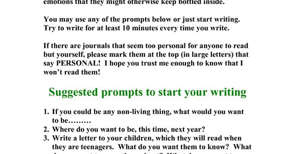 writing prompts for adults