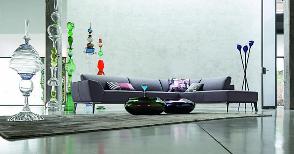 Roche bobois meteore leather modular sectional sofa for Catalogue canape roche bobois