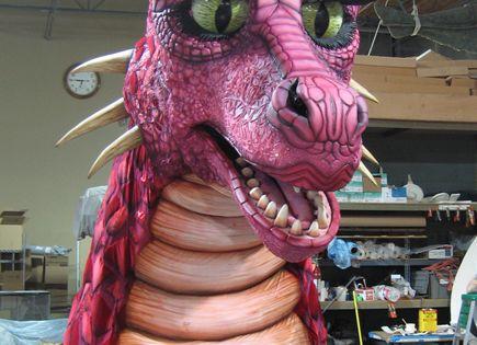The Character Shop Giant Dragon For Shrek The Musical Shrek Dragon Shrek Shrek Costume
