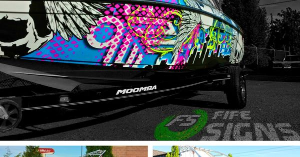 Check Out This Super Cool Printed Boat Wrap From Fife