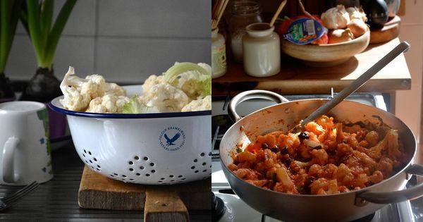 Rachel Roddy's cauliflower in puttanesca sauce recipe | Cauliflower ...
