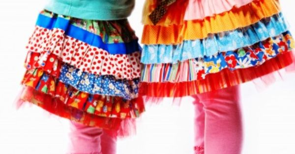 Cute and colorful ruffle skirt pattern. Another Janey project!!!!