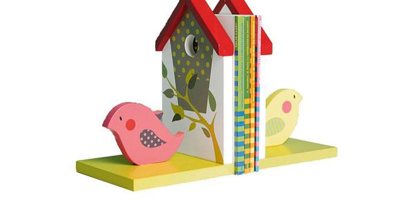 serre livres enfant nichoir et oiseau vertbaudet b b enfant maison d co serre livres. Black Bedroom Furniture Sets. Home Design Ideas