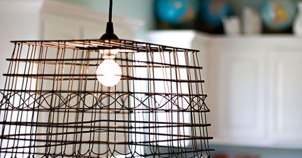 anthropologie inspired pendant lamp: weekend project? How easy would this be? A