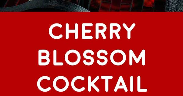Cherry Blossom Cocktail! This grown-up version of a pink milkshake is ...