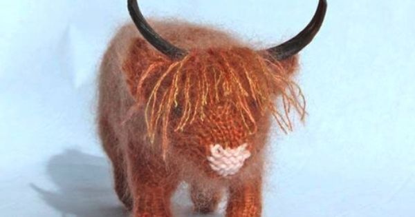 Amigurumi Highland Cow : Things We Love! Scotland, Toy and Knitting ideas