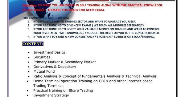 Prospectus of SHARE_TRADING TRAINING BY TNM TRAINING CENTRE TNM - investment analysis