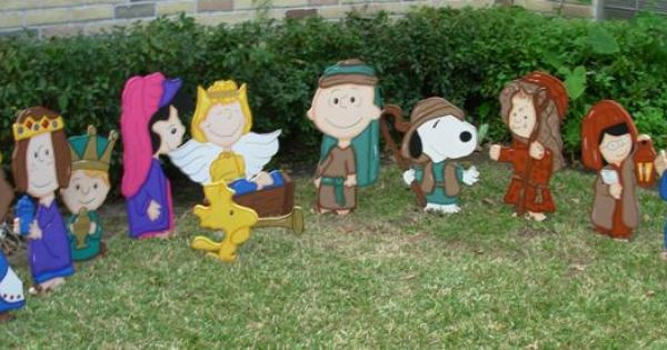 Items Similar To Charlie Brown Nativity Set 12 Piece On Etsy Charlie Brown Christmas Decorations Christmas Yard Art Charlie Brown Christmas
